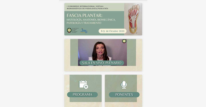 Casi 3.000 podólogos participan entre hoy y mañana en el I Congreso Internacional Virtual Monográfico de Podología/Podiatría