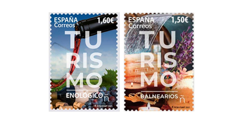 Correos emite un sello dedicado al turismo enológico y otro al de balnearios