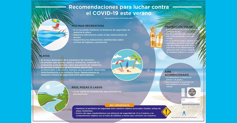 Las enfermeras ofrecen consejos para luchar contra los rebrotes de COVID-19 en playas, piscinas y ríos