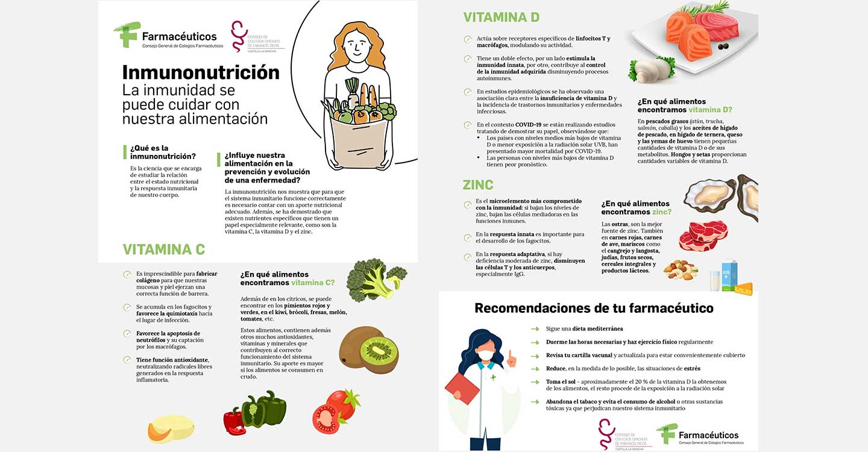 Los farmacéuticos aconsejan tomar alimentos con vitamina C, D y Zinc para un correcto funcionamiento del sistema inmunitario