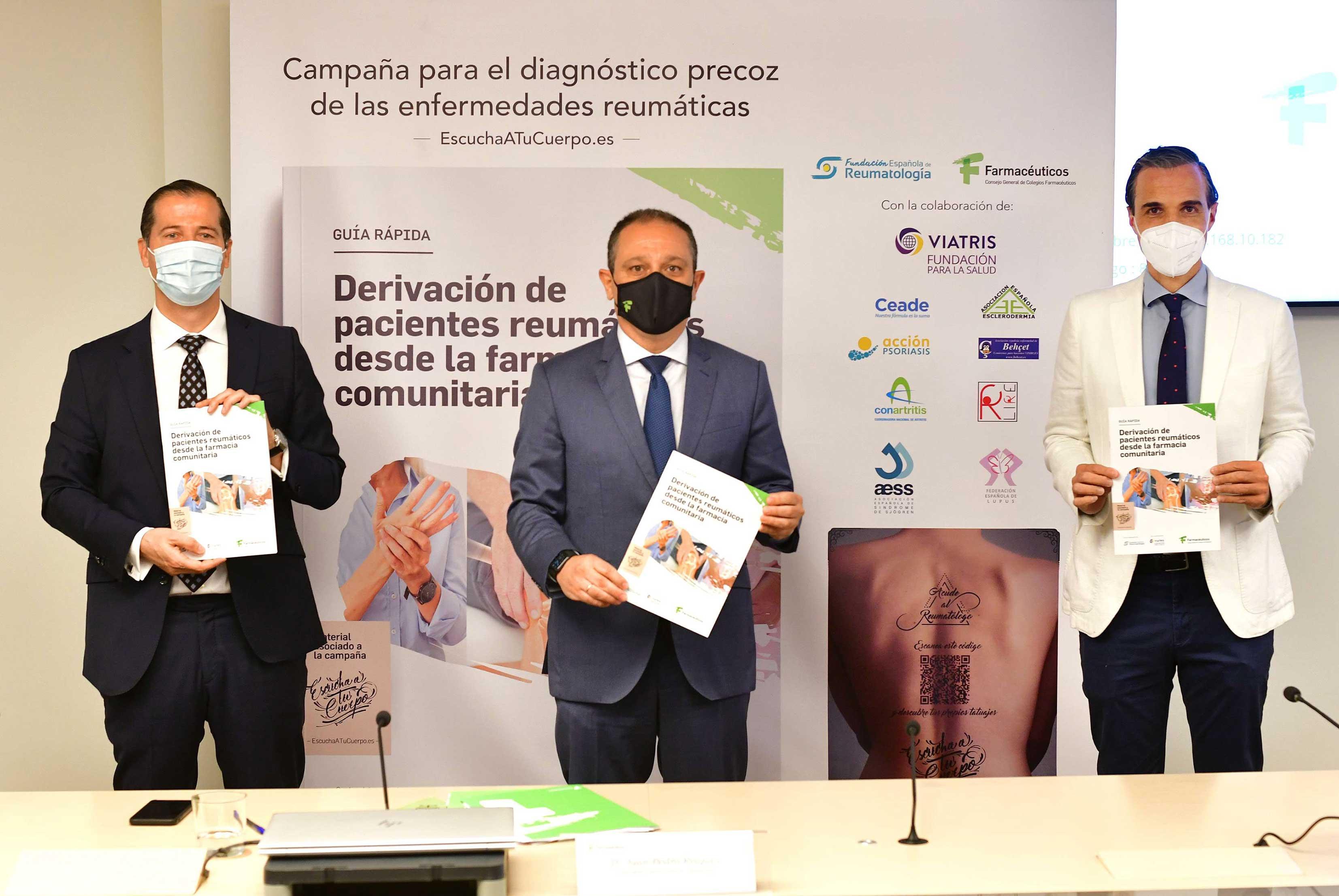 Farmacéuticos y reumatólogos se unen para mejorar el diagnóstico precoz de las enfermedades reumáticas y darles visibilidad entre la población