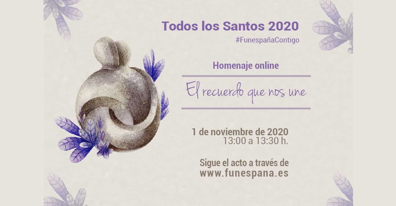 """Funespaña realizará el 1 de noviembre, """"El recuerdo que nos une"""", un acto homenaje online"""