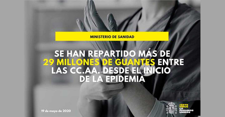 El Gobierno distribuye más 5 millones de guantes solicitados por las CCAA en el Consejo Interterritorial de Salud