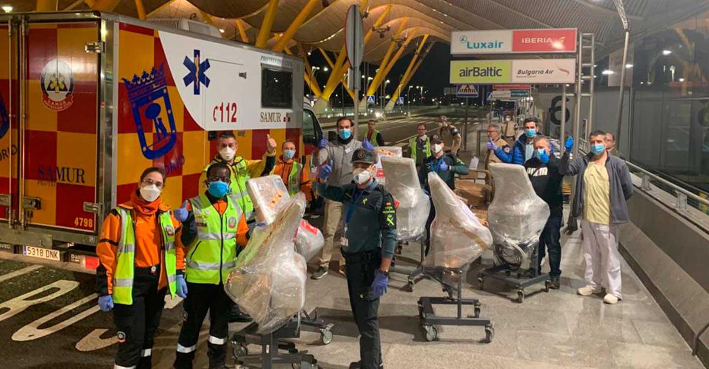 Un grupo de empresarios sigue trabajando para traer respiradores necesarios en hospitales de Madrid