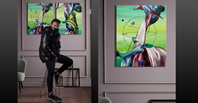 Jesús Calzada, Un artista de Ciudad Real en la exposición de Mensajeros de La Paz y el Padre Ángel en Madrid.