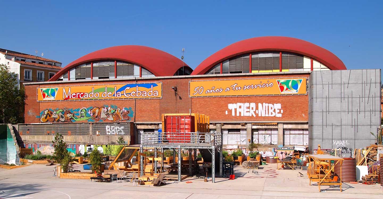 La Mancha y el Mercado de la cebada en Madrid