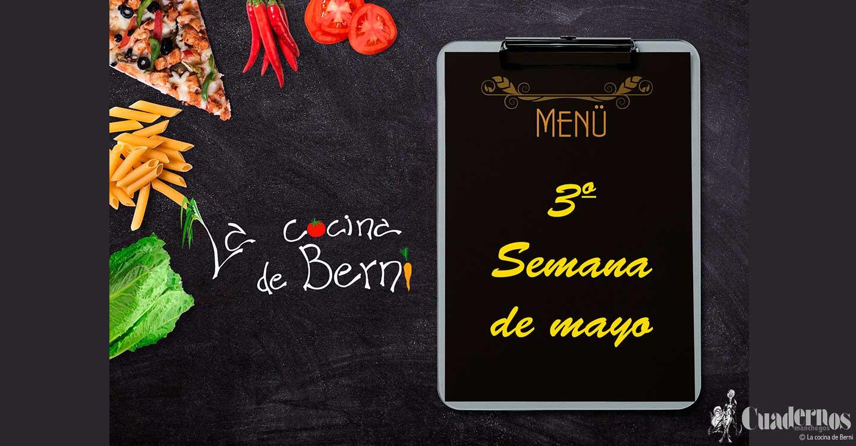 Menú semanal 'La Cocina de Berni'