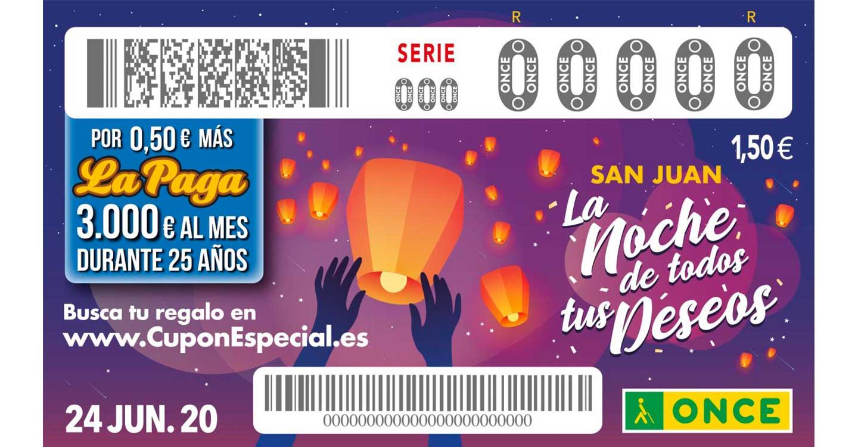 La ONCE celebra San Juan con un cupón especial para hacer inolvidable 'La noche de todos tus deseos'