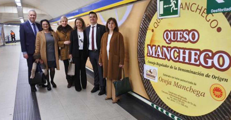 El queso manchego llegará a cerca de seis millones de pasajeros del metro de Madrid gracias a la campaña de promoción del Gobierno de Castilla-La Mancha