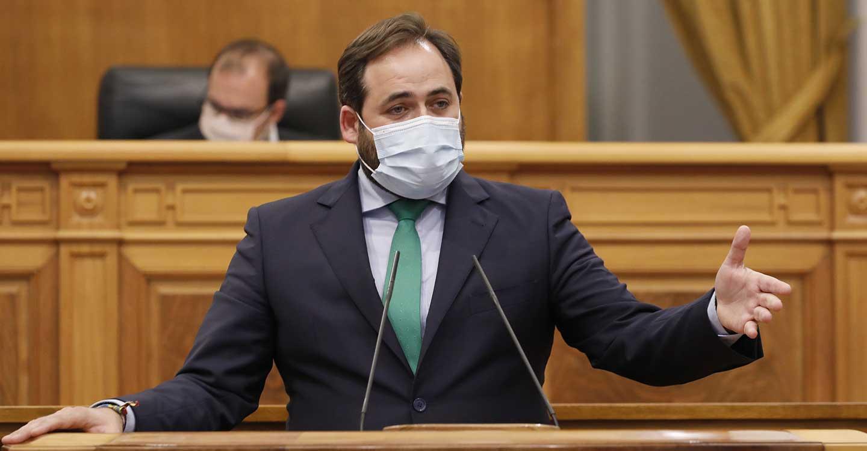 """Núñez pide a Page que """"desde el consenso, el diálogo y con el único ánimo de ayudar a mejorar los datos"""" se abra de manera inmediata el nuevo Hospital de Toledo"""