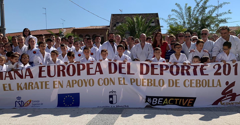 El Gobierno regional, Sandra Sánchez y el kárate muestran su solidaridad con el pueblo de Cebolla tras la reciente riada
