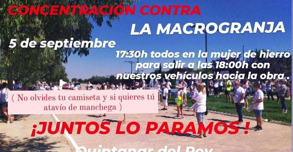 La Plataforma Stop Macrogranja en Quintanar del Rey convoca una nueva manifestación
