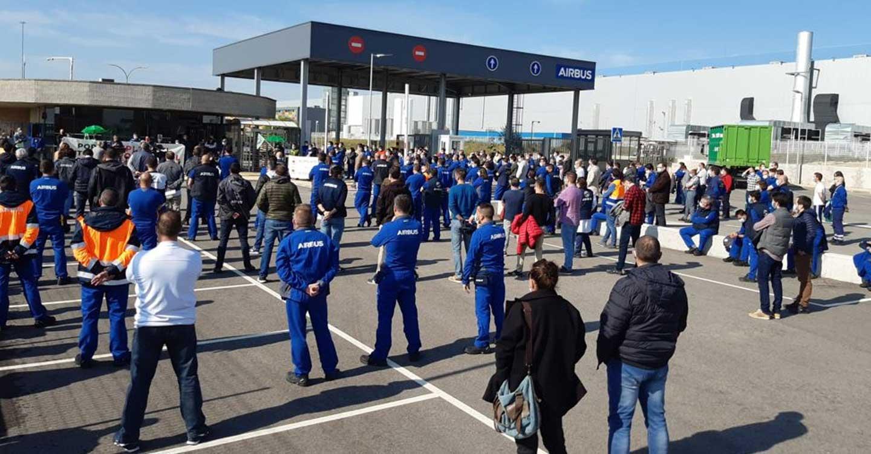Las plantillas de Airbus en Illescas y Albacete se movilizan junto a las del resto de España en defensa del empleo y contra el cierre de la factoría de Puerto Real