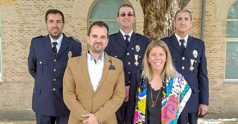 La alcaldesa asiste a la entrega de condecoraciones a las Policías Locales de C-LM