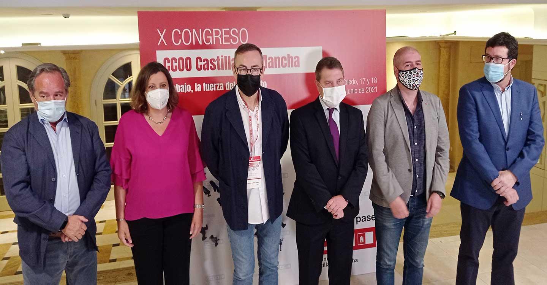 """Apertura del X Congreso de CCOO CLM, Unai Sordo muestra su """"perplejidad"""" ante las dudas en el Gobierno sobre la oportunidad de subir el SMI"""