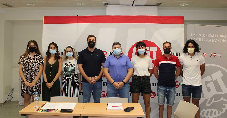Los jóvenes de UGT comienzan a trabajar en la puesta en marcha de la asociación RUGE en Castilla-La Mancha