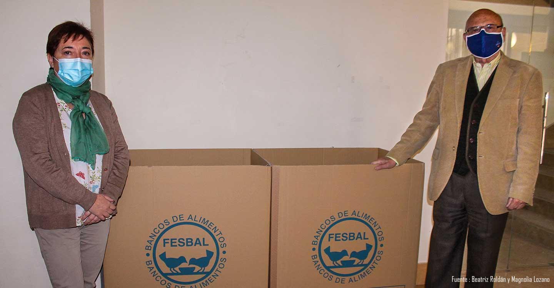 Campaña de recogida de alimentos y productos de higiene en la Biblioteca de Castilla-La Mancha destinada al Banco de Alimentos de Toledo