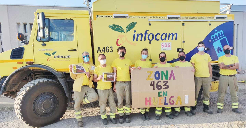 CCOO destaca el respaldo masivo de los bomberos forestales a la huelga en Geacam y agradece su ejemplar compromiso en la lucha contra los incendios forestales de los últimos días