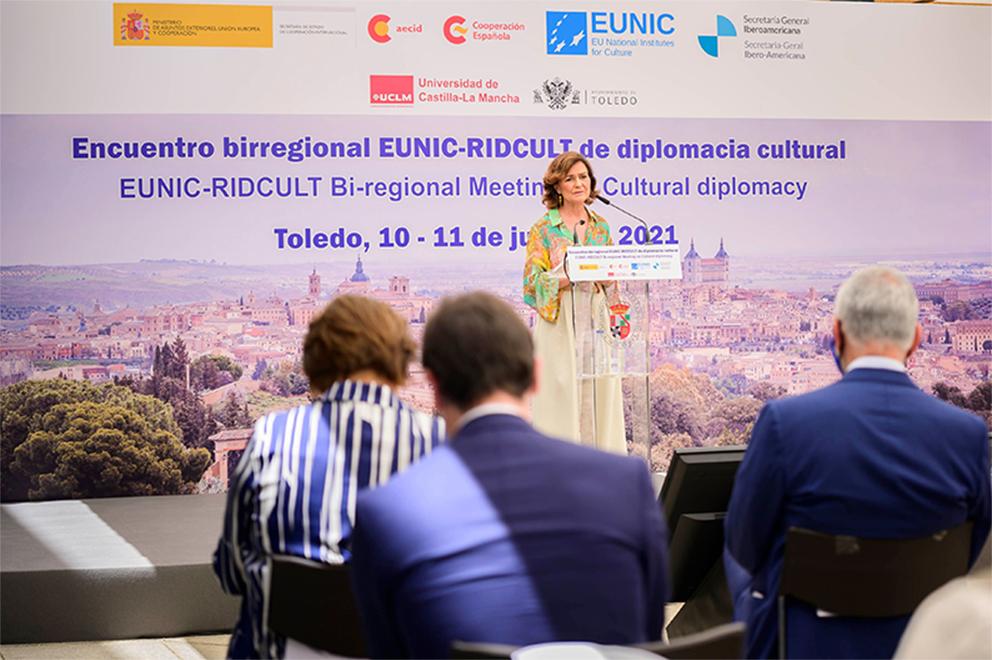 """Carmen Calvo afirma que la cultura tiene en sus manos """"el instrumento de la paz"""""""