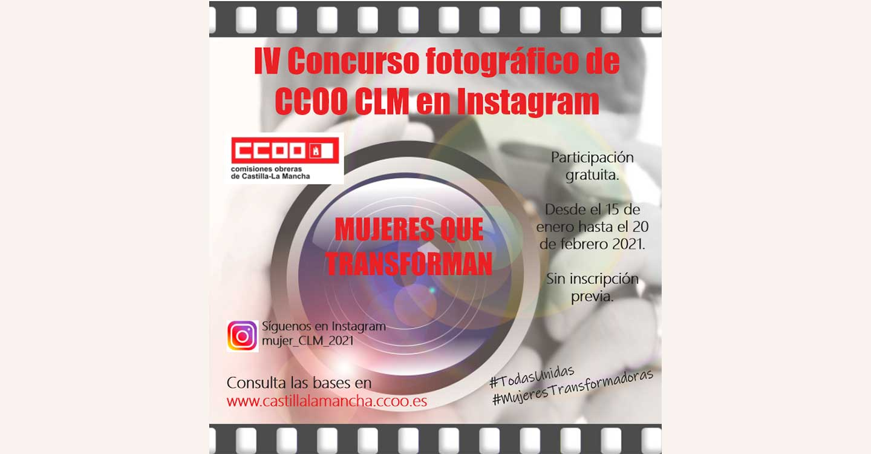 """CCOO CLM convoca el IV Concurso de Fotografía """"Mujeres que transforman"""" y anima a la ciudadanía a la participación"""