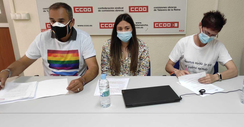 CCOO-Toledo se compromete a velar por los derechos de las personas LGTBI en la negociación colectiva y las empresas de la provincia