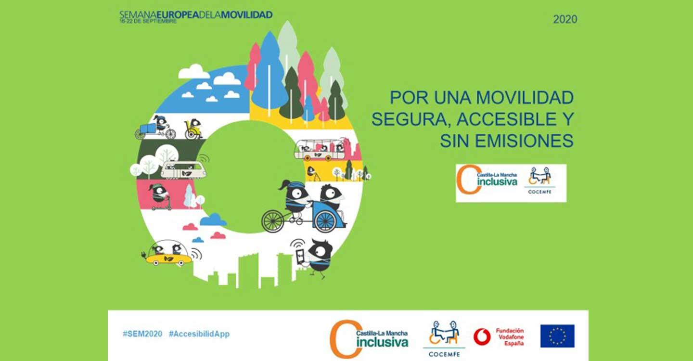 CLM Inclusiva COCEMFE invita a notificar incidencias de accesibilidad en la Semana Europea de la Movilidad