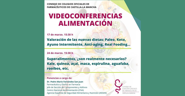 El COFCAM  imparte este mes de marzo sendas videconferencias sobre nutrición, las nuevas dietas y los superalimentos