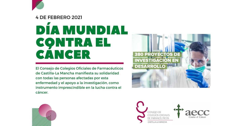 El Consejo de Colegios Oficiales de Farmacéuticos de CLM manifiesta su solidaridad con las personas afectadas por cáncer