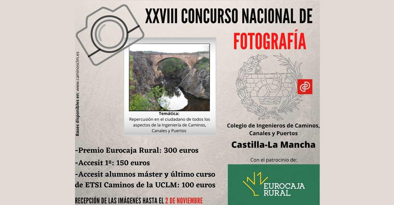El Colegio de Ingenieros de Caminos en CLM convoca el XXVIII Concurso Nacional de Fotografía sobre la influencia de la profesión en la sociedad