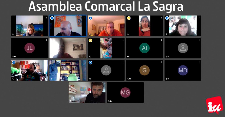 La Coordinadora Comarcal IU La Sagra se reúne para tratar la crisis del coronavirus