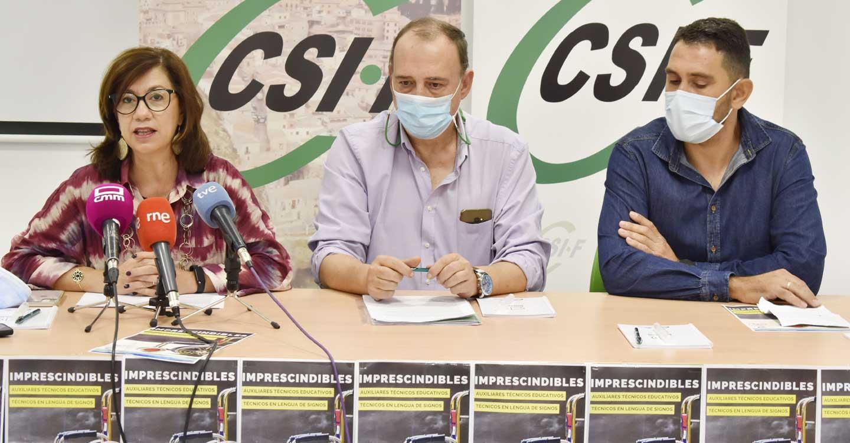 CSIF y CERMI CLM exigen al Gobierno regional el fin de la precariedad laboral que padecen los auxiliares educativos y los técnicos en lengua de signos