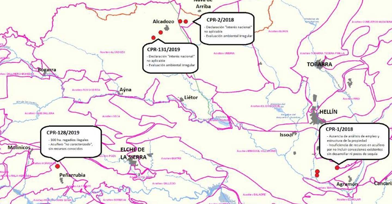 Denuncian el carácter «antisocial y fraudulento» de los nuevos regadíos en el Segura albacetense