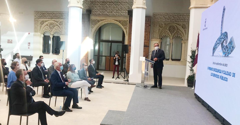 La presidenta de la FEMPCLM pone en valor la labor de los premiados a la Excelencia y Calidad de los Servicios Públicos de la Administración regional
