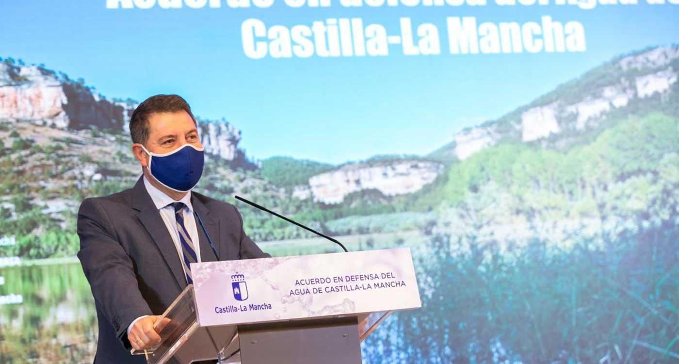 """García-Page valora un acuerdo regional """"alejado de partidismos"""" para que exista una """"defensa pétrea"""" de los intereses de Castilla-La Mancha"""