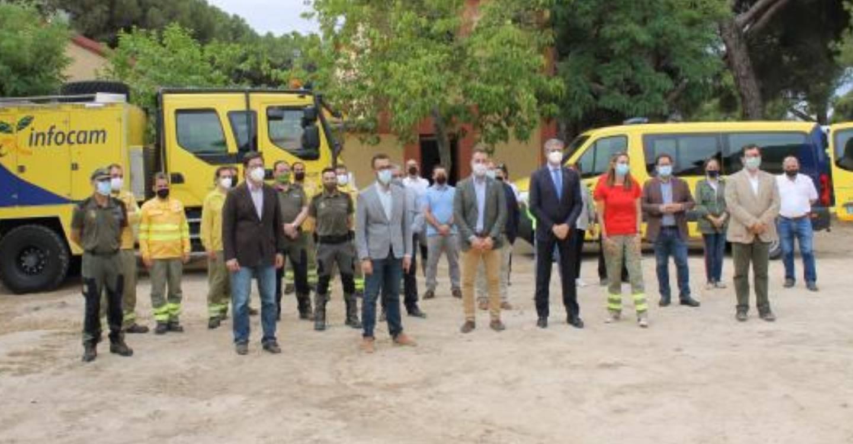 El Gobierno de Castilla-La Mancha invierte 155.000 euros para mejorar la base-retén de Almorox en su refuerzo de las infraestructuras de lucha contra incendios forestales del Plan Infocam