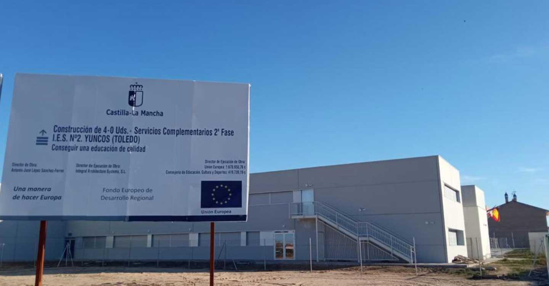 El Gobierno regional licita las obras de ampliación de la tercera Fase del IESO 'El Melgar' de Yuncos por un importe de más de dos millones y medio de euros