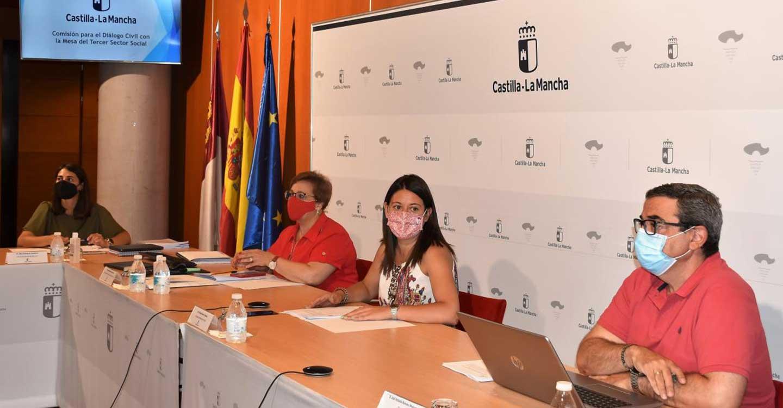 El Gobierno de Castilla-La Mancha propicia la tercera reunión anual de la Comisión para el Diálogo Civil con la Mesa del Tercer Sector Social