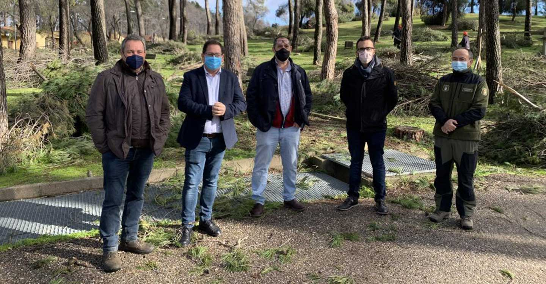 El Gobierno regional comienza los trabajos selvícolas en los montes públicos de 'Los Gavilanes' para adecuar la zona y garantizar su seguridad tras la borrasca Filomena