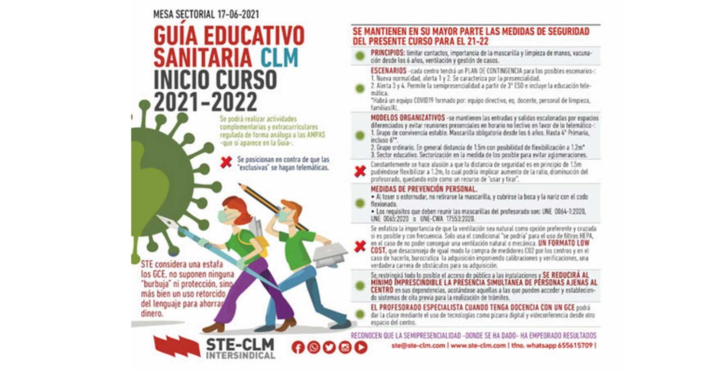 Serias discrepancias en la negociación de la Guía educativo sanitaria para el curso 2021/2022 entre la administración y sindicatos en Castilla-La Mancha