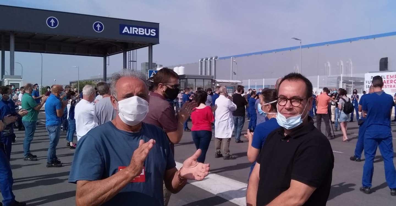 IU C-LM muestra su apoyo a las reivindicaciones de los trabajadores de Airbus