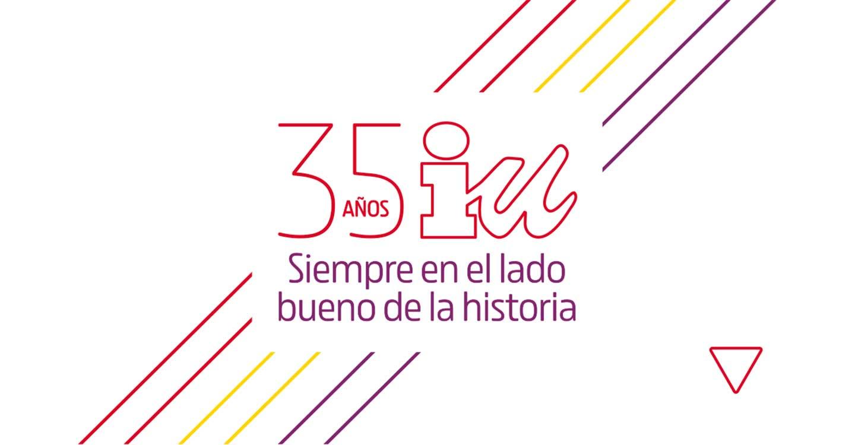 """IU lanza una campaña para celebrar su 35 aniversario orgullosa de """"heredar la lucha contra el fascismo de quienes tejieron la democracia en nuestro país"""""""