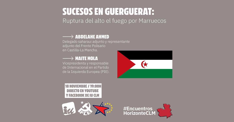 IU organiza un acto online para conocer la situación en el Sáhara Occidental y los sucesos de Guerguerat