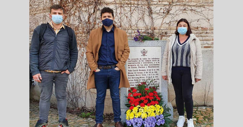 Izquierda Unida y el PCE homenajean en Toledo a las víctimas del holocausto