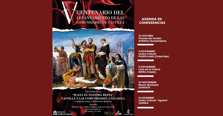 Las historiadoras Lara Martínez imparten en seis localidades de la región una conferencia sobre el Levantamiento de las Comunidades de Castilla