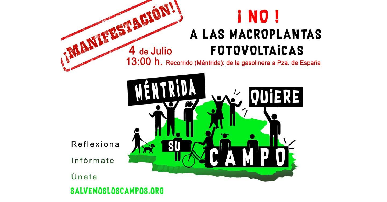 Salvemos los Campos convoca una manifestación bajo el lema de