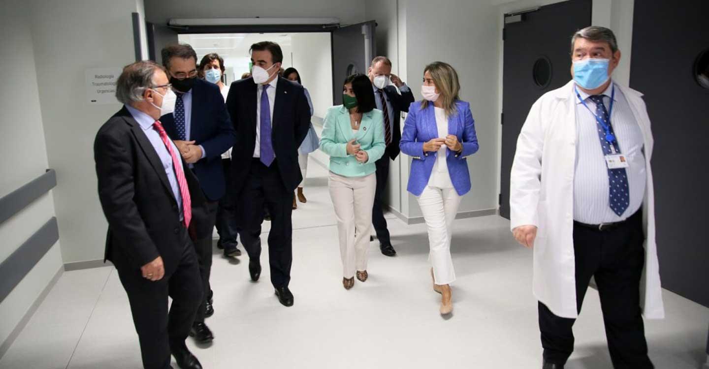 Milagros Tolón visita el Centro de Vacunación frente a la Covid-19 en el nuevo Hospital Universitario de Toledo