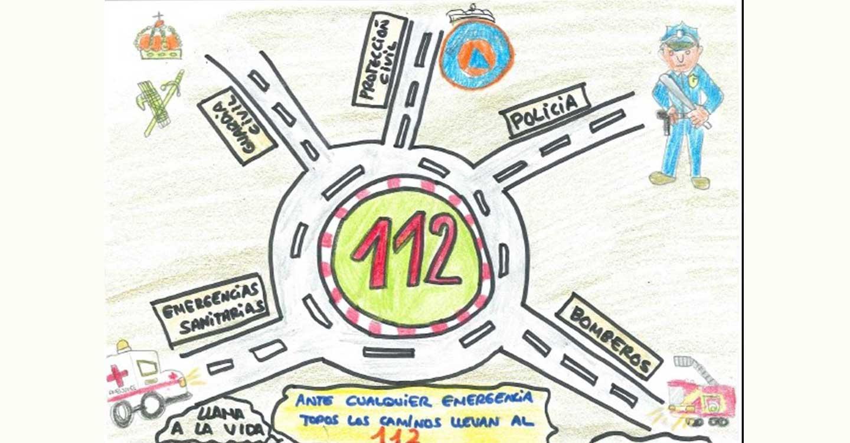 Un total de 396 trabajos se han presentado a la IX edición del Concurso de Dibujo Escolar del Servicio de Emergencias 1-1-2
