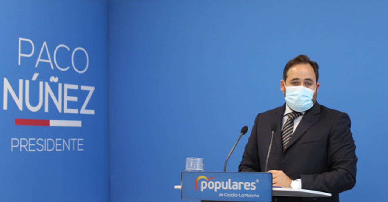 """Núñez espera que Page sea su rival en 2023 para que los castellanomanchegos avalen o rechacen """"su gestión de la pandemia, sus mentiras y sus insultos"""""""