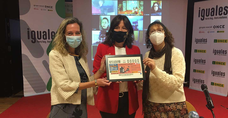 """El cupón de la ONCE grita """"Estamos Contigo"""" en el Día Internacional de la Eliminación de la Violencia contra la Mujer"""