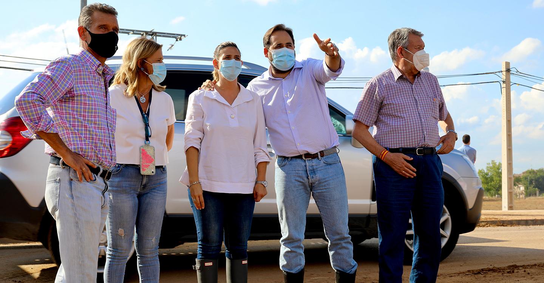 Núñez muestra la `disposición absoluta´ del PP-CLM para colaborar con el Gobierno regional y aprobar las medidas necesarias para los afectados por las tormentas